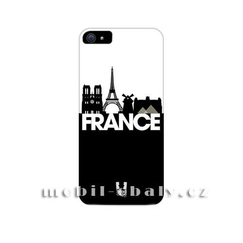 HEAD CASE Plastový obal na mobil Iphone 5/5S Francie