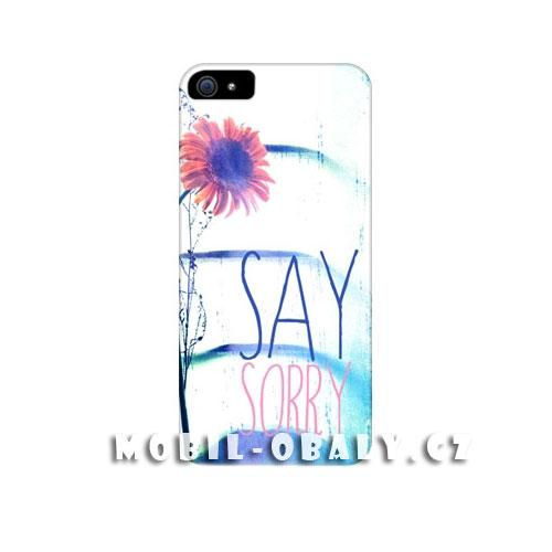HEAD CASE Plastový obal na mobil Iphone 5/5S Květina modrá barva