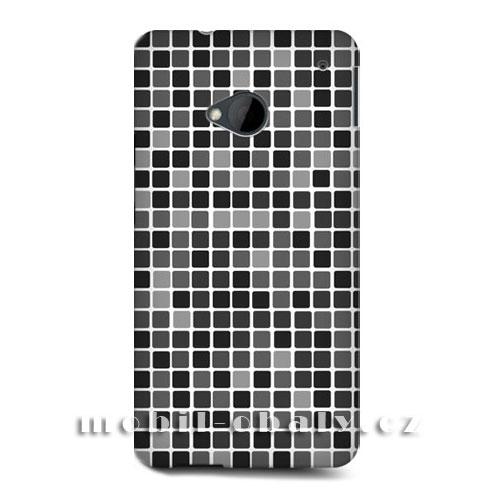 HEAD CASE obal na mobil HTC ONE M7 mozaika barva černá