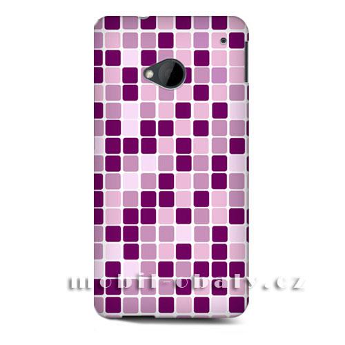 HEAD CASE obal na mobil HTC ONE M7 mozaika barva růžová