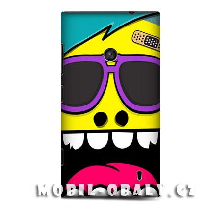 HEAD CASE obal na mobil Nokia Lumia 520 Šílený smajlík žlutá barva