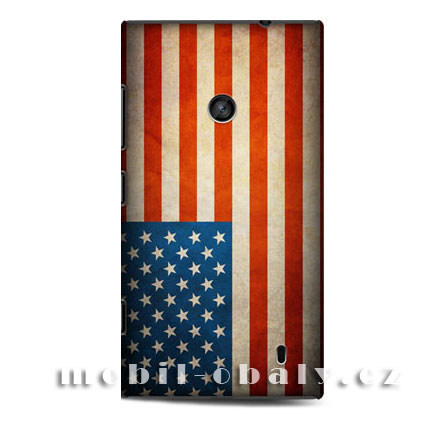 HEAD CASE obal na mobil Nokia Lumia 520 Americká vlajka