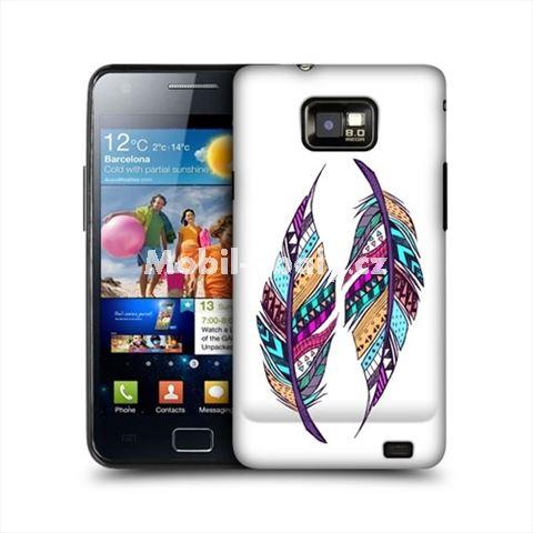 HEAD CASE obal na mobil Samsung Galaxy i9100 S2 Aztécké pírko