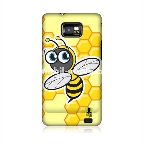 HEAD CASE obal na mobil Samsung Galaxy i9100 S2 Žlutý vzor včelka