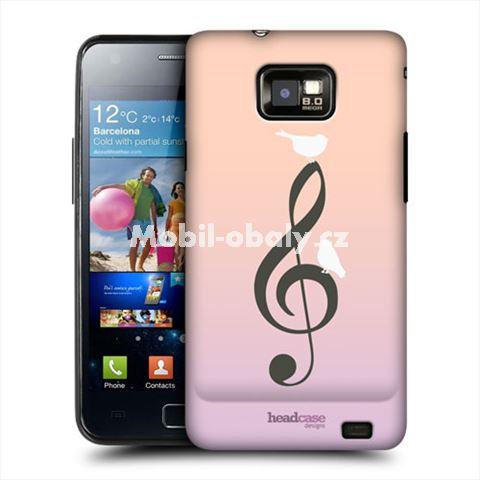 HEAD CASE obal na mobil Samsung Galaxy i9100 S2 Hudební vzor