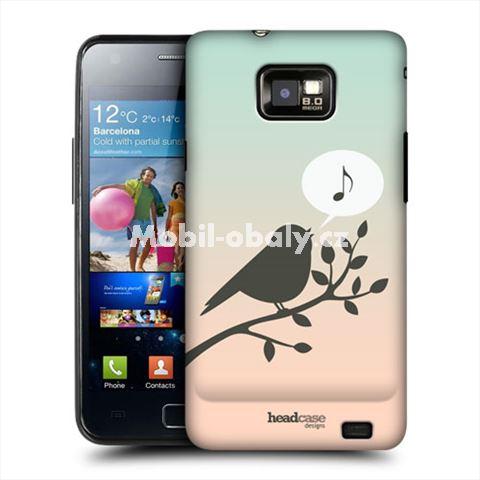 HEAD CASE obal na mobil Samsung Galaxy i9100 S2 ptáček zpěváček