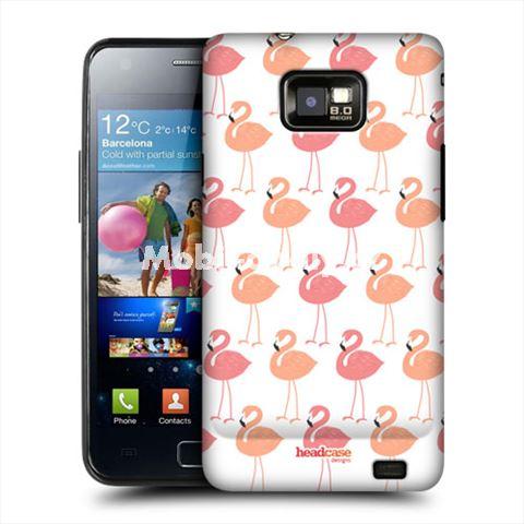 HEAD CASE obal na mobil Samsung Galaxy i9100 S2 Ptáci plameňáci