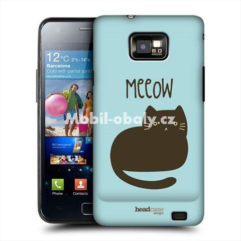 HEAD CASE obal na mobil Samsung Galaxy i9100 S2 Černá kočka