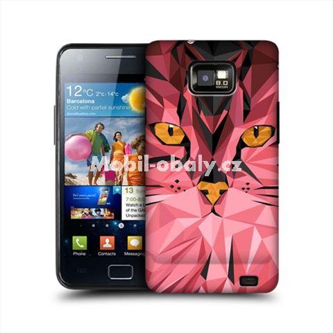 HEAD CASE obal na mobil Samsung Galaxy i9100 S2 Geometrické zvíře kočka
