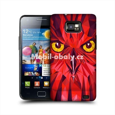 HEAD CASE obal na mobil Samsung Galaxy i9100 S2 Geometrické zvíře sova