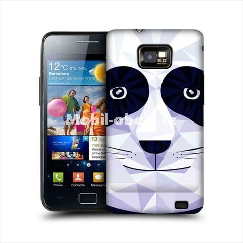 HEAD CASE obal na mobil Samsung Galaxy i9100 S2 Geometrické zvíře panda