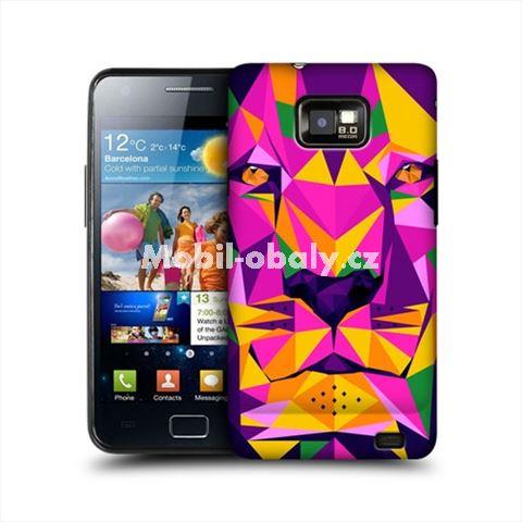 HEAD CASE obal na mobil Samsung Galaxy i9100 S2 Geometrické zvíře tygr barevný