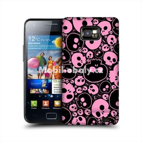 HEAD CASE obal na mobil Samsung Galaxy i9100 S2 lebky černá růžová
