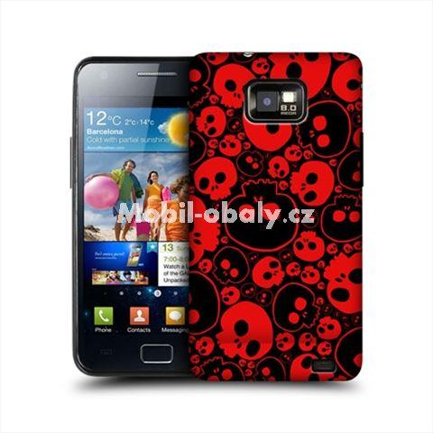 HEAD CASE obal na mobil Samsung Galaxy i9100 S2 lebky černá červená