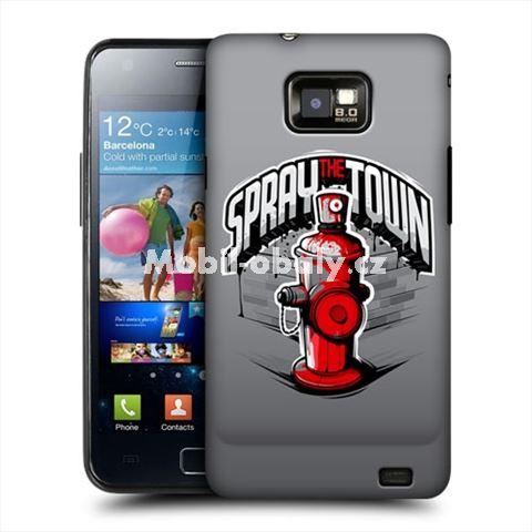HEAD CASE obal na mobil Samsung Galaxy i9100 S2 červeny hydrant s popiskem