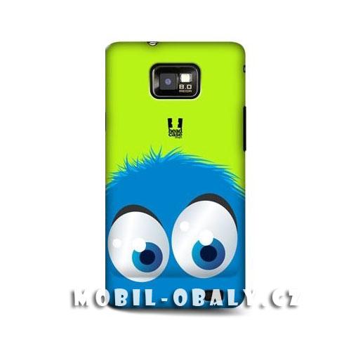 HEAD CASE obal na mobil Samsung Galaxy i9100 S2 motiv smajlík modrá barva