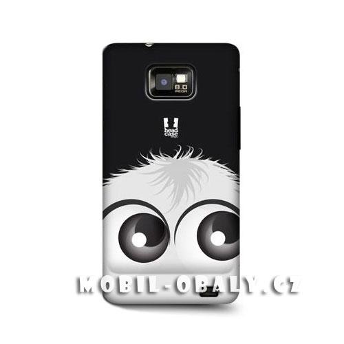 HEAD CASE obal na mobil Samsung Galaxy i9100 S2 Smajlík černá a bílá