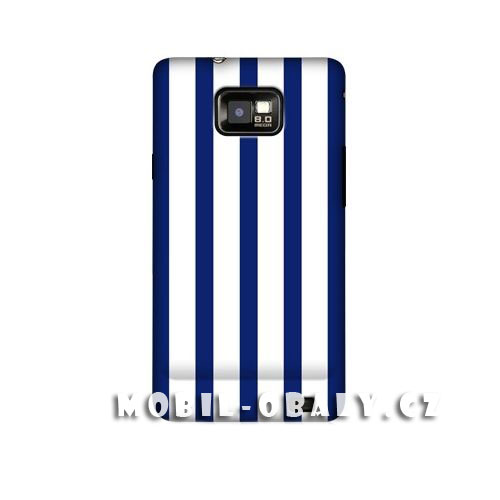 HEAD CASE obal na mobil Samsung Galaxy i9100 S2 Svislé modré pruhy