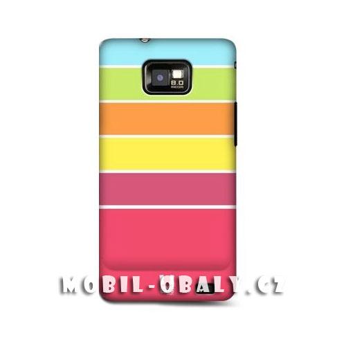 HEAD CASE obal na mobil Samsung Galaxy i9100 S2 barevné pruhy 1