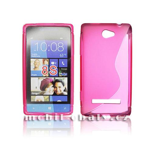 Obal S-line na mobil HTC windows phone 8S růžová silikon s line