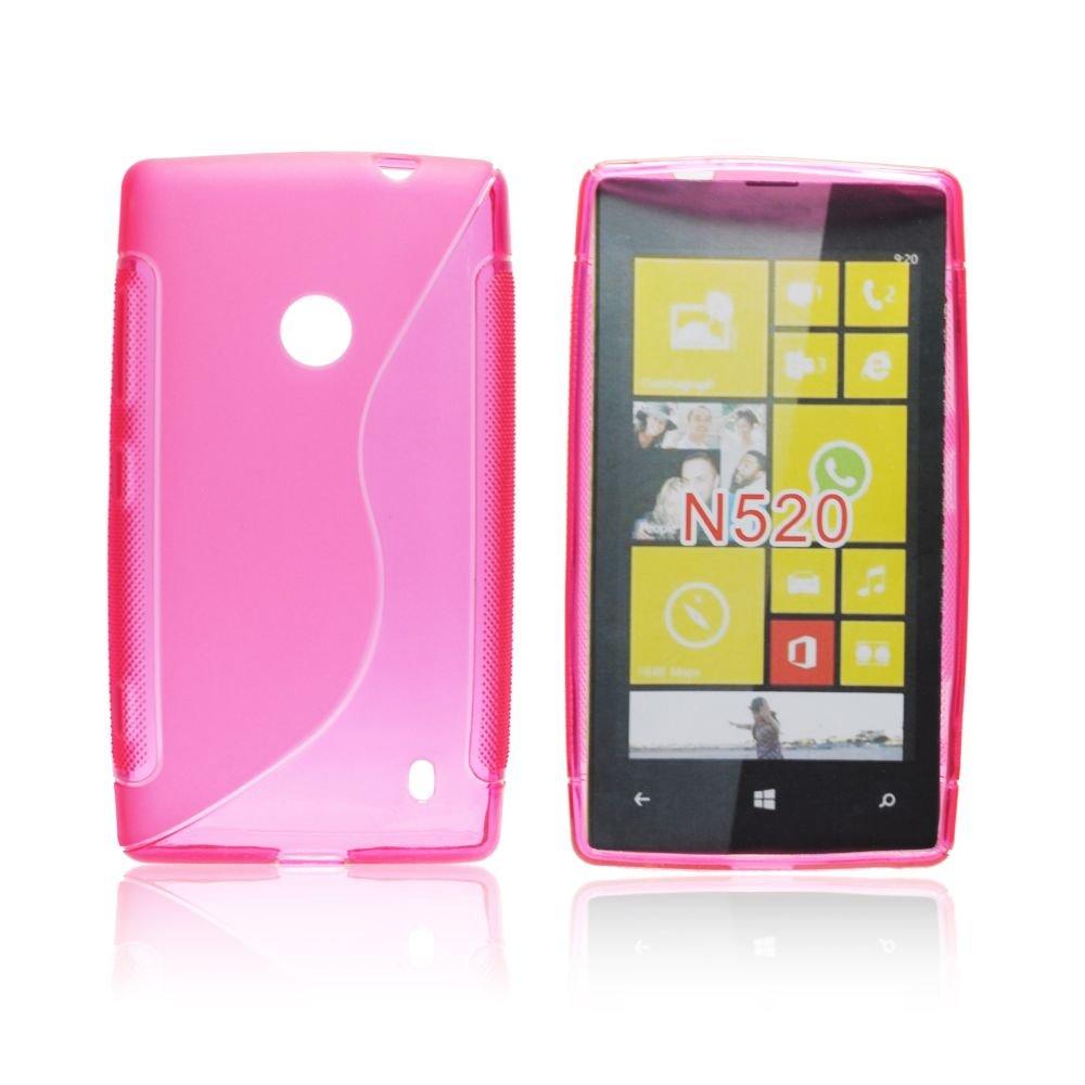 Obal S-line Nokia Lumia 520 růžový silikon