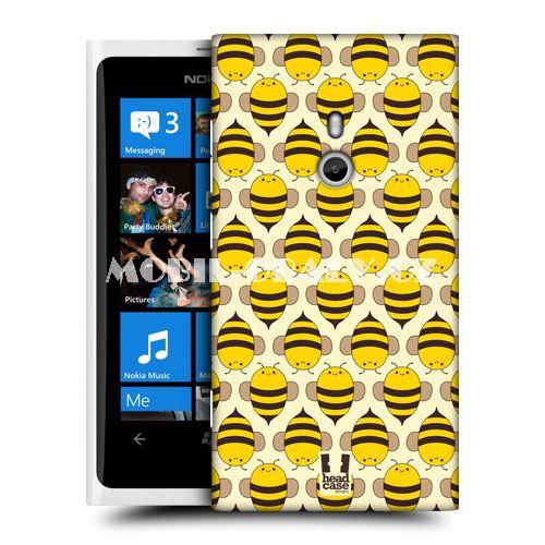 HEAD CASE obal Nokia Lumia 800 žlutá barva včelky