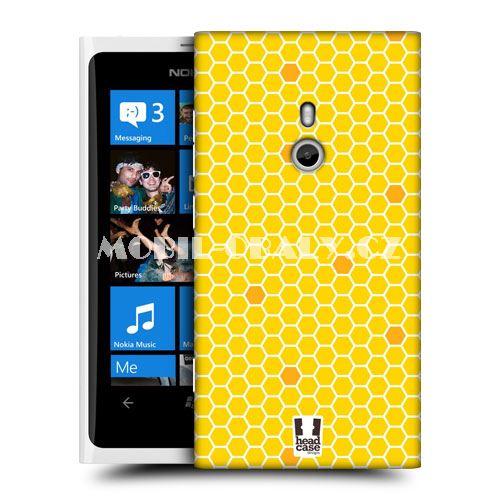 HEAD CASE obal Nokia Lumia 800 včelí plástev