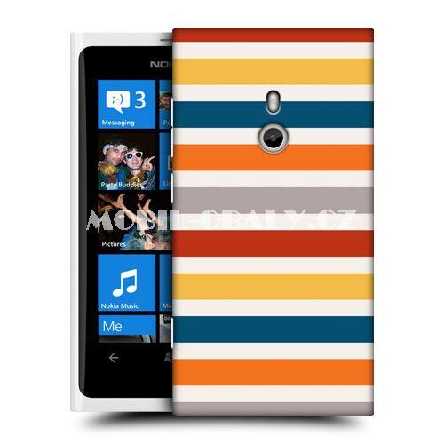HEAD CASE obal na mobil Nokia Lumia 800 barevné pruhy vzor slunečný den