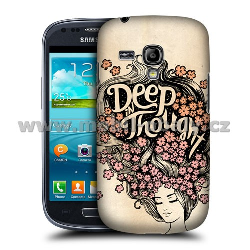 HEAD CASE pouzdro na mobil Samsung galaxy S3 mini motiv DEEP IN THOUGHT