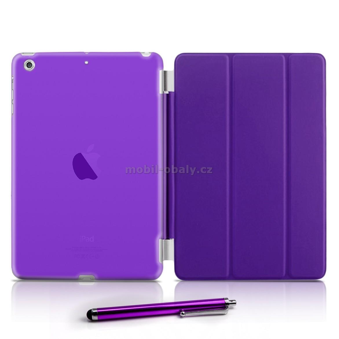 Magnetické pouzdro na tablet Apple iPad Air fialová barva + folie zdarma 6d0ae5157a3