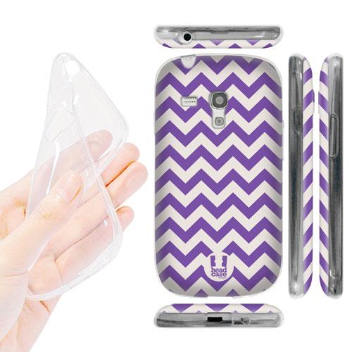HEAD CASE silikonové Pouzdro na mobil Samsung galaxy S3 MINI vzor Tvar V  fialový empty abd0eca3a39