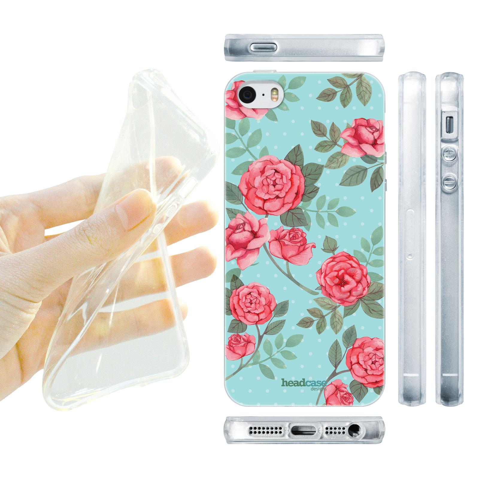 HEAD CASE silikonový obal na mobil Iphone 5 5S květinový motiv anglické  růže empty 587e214a204