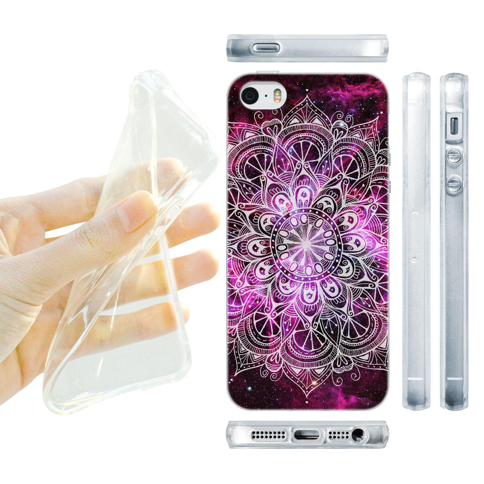 HEAD CASE silikonový obal na mobil Iphone 5 5S barevná mandala vesmír  fialová empty ac965caaf34