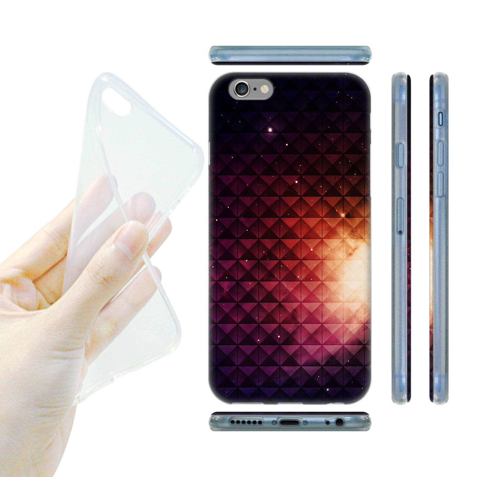 HEAD CASE Silikonový obal na mobil Iphone 6 6S vesmír fialová a žlutá  slunce empty e9919cc2b22