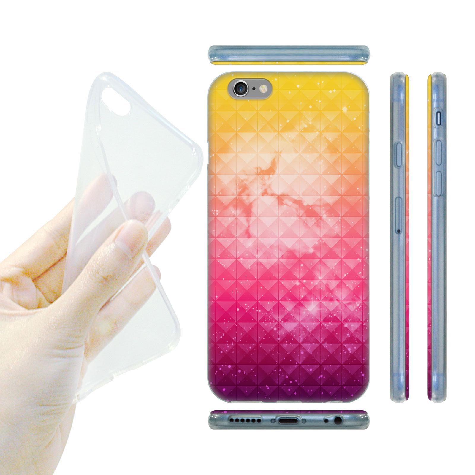 HEAD CASE Silikonový obal na mobil Iphone 6 6S vesmír oranžová a růžová 0e454fbd150