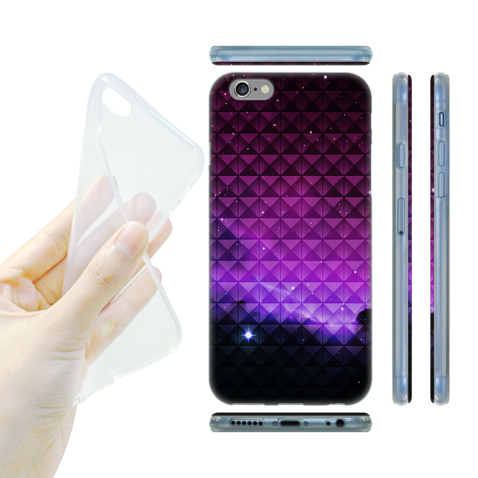 HEAD CASE Silikonový obal na mobil Iphone 6 6S vesmír fialová záře 38b6de39d9b