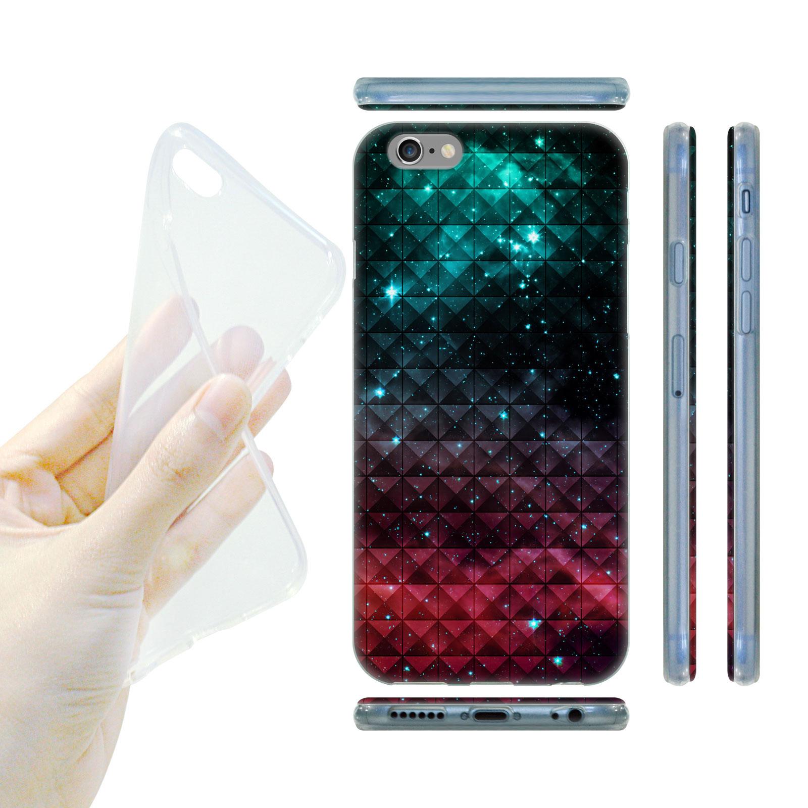 HEAD CASE Silikonový obal na mobil Iphone 6 6S vesmír modrá a červená 6a9d6d16225