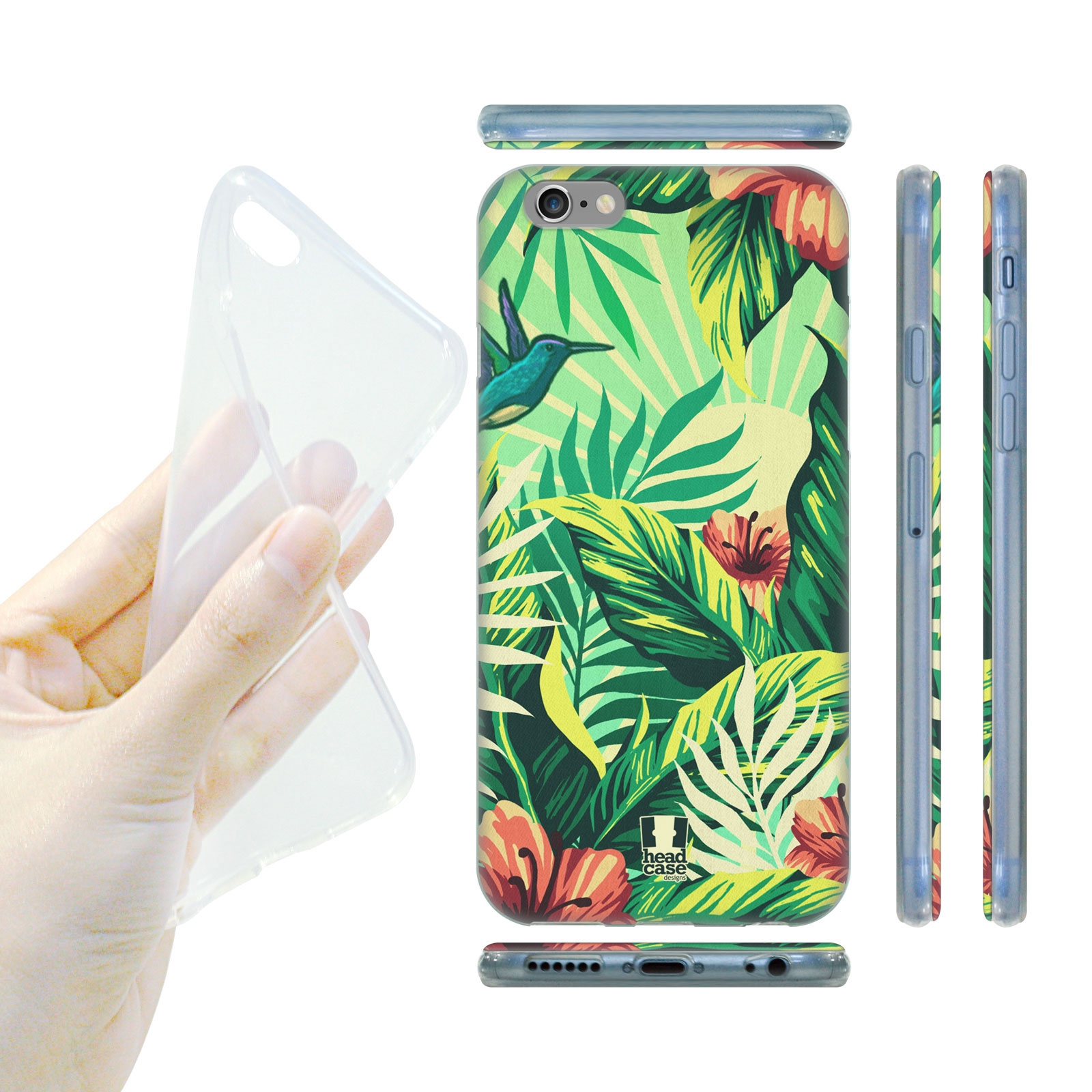 78524192c HEAD CASE Silikonový obal na mobil Iphone 6/6S ostrov kolibřík barevný vzor