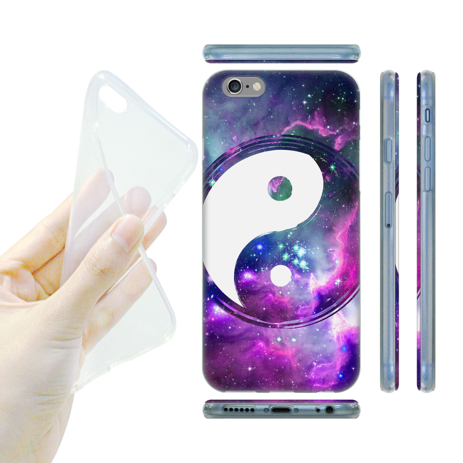 597430c78 HEAD CASE Silikonový obal na mobil Iphone 6/6S vzor JIN a JANG fialová