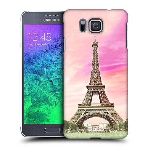 HEAD CASE obal na mobil Samsung Galaxy ALPHA světová místa Eiffelova věž  Paříž 2f6dc64193b