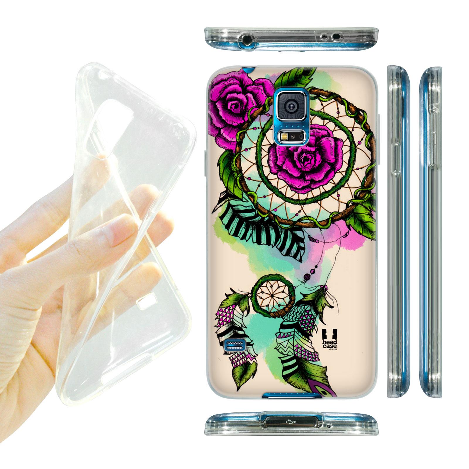 15dde76b9 HEAD CASE silikonový obal na mobil Samsung galaxy S5 lapač snů květina  růžová