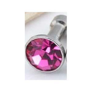 Ozdobný kamínek pro mobil 3.5 mm výstup na sluchátka růžový tmavý odstín  empty 92d2edb770e