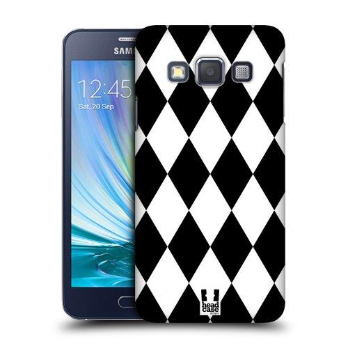 86b0bef71 HEAD CASE plastové pouzdro na mobil Samsung Galaxy A3 cik cak kosočtverec  černá