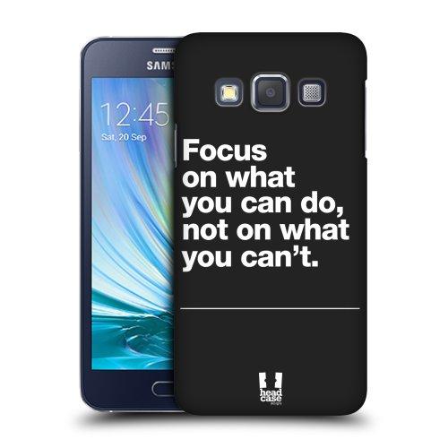 8faaaeec4 HEAD CASE plastové pouzdro na mobil Samsung Galaxy A3 nadpis motivace  zaměřit se empty
