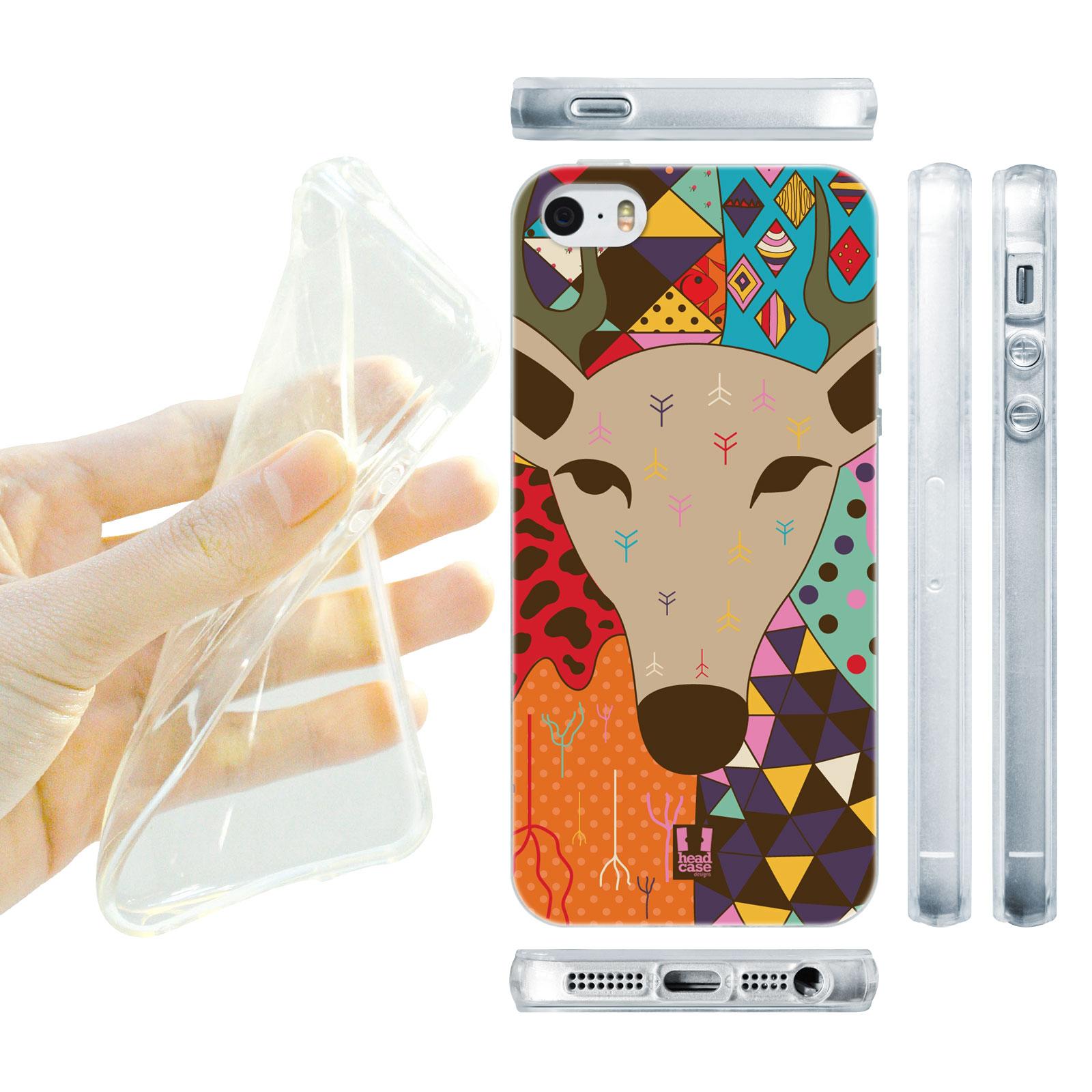 HEAD CASE silikonový obal na mobil Iphone 5 5S zvířata abstraktní jelen 5f300f7d76a