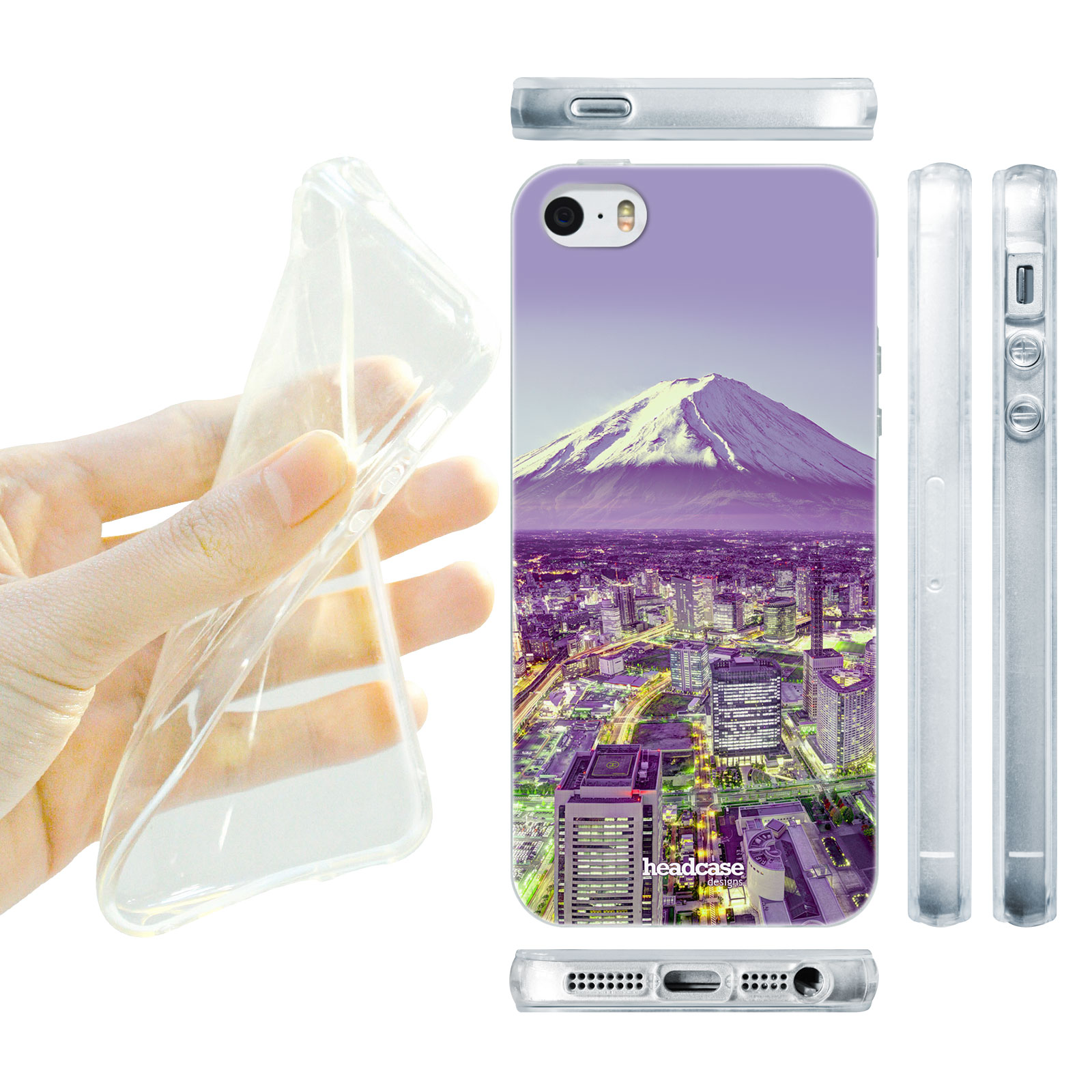 HEAD CASE silikonový obal na mobil Iphone 5 5S nejkrásnější místa hora  Yokohama 7c51534f459