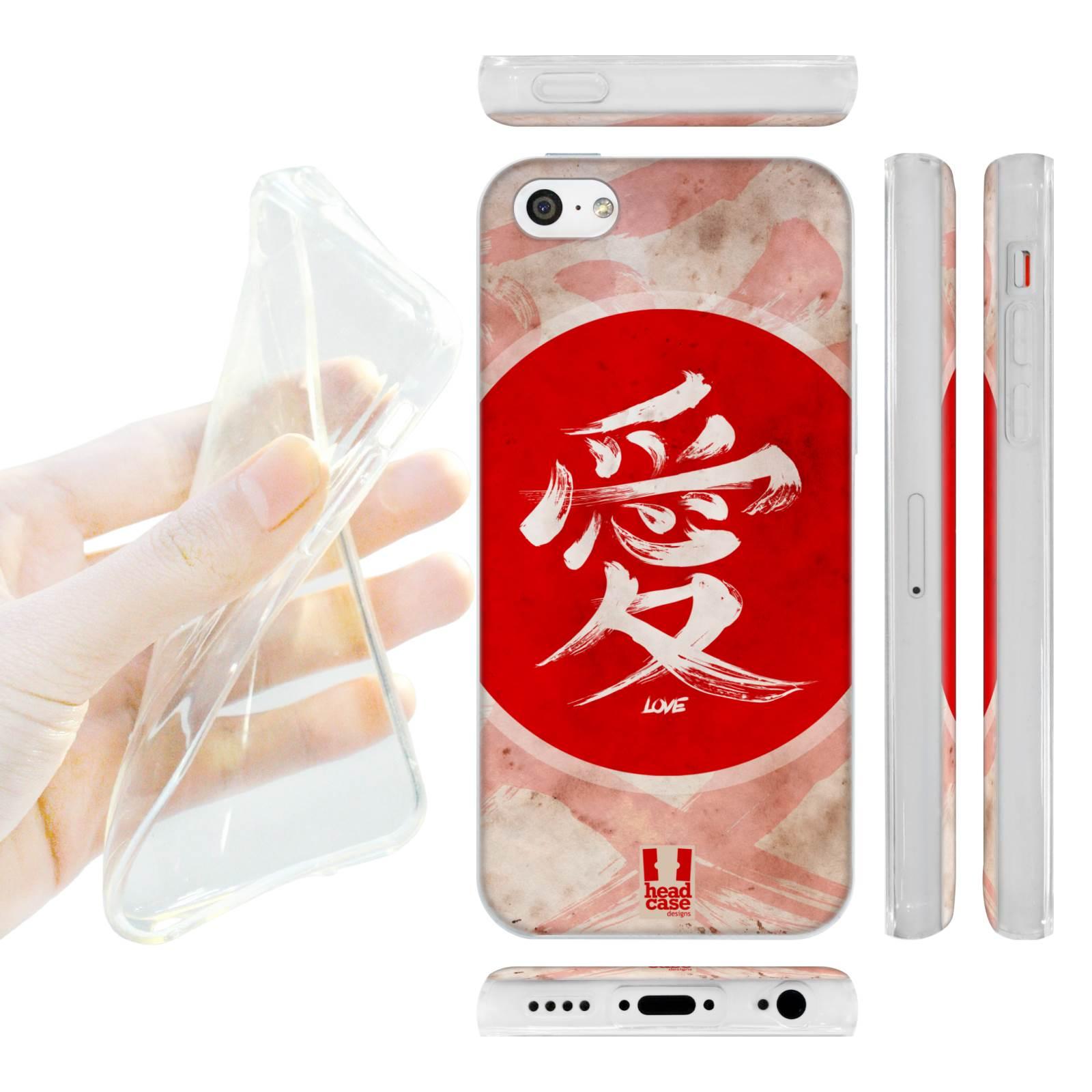 HEAD CASE silikonový obal na mobil Iphone 5C Japonské znaky LÁSKA empty 4c5915c56db