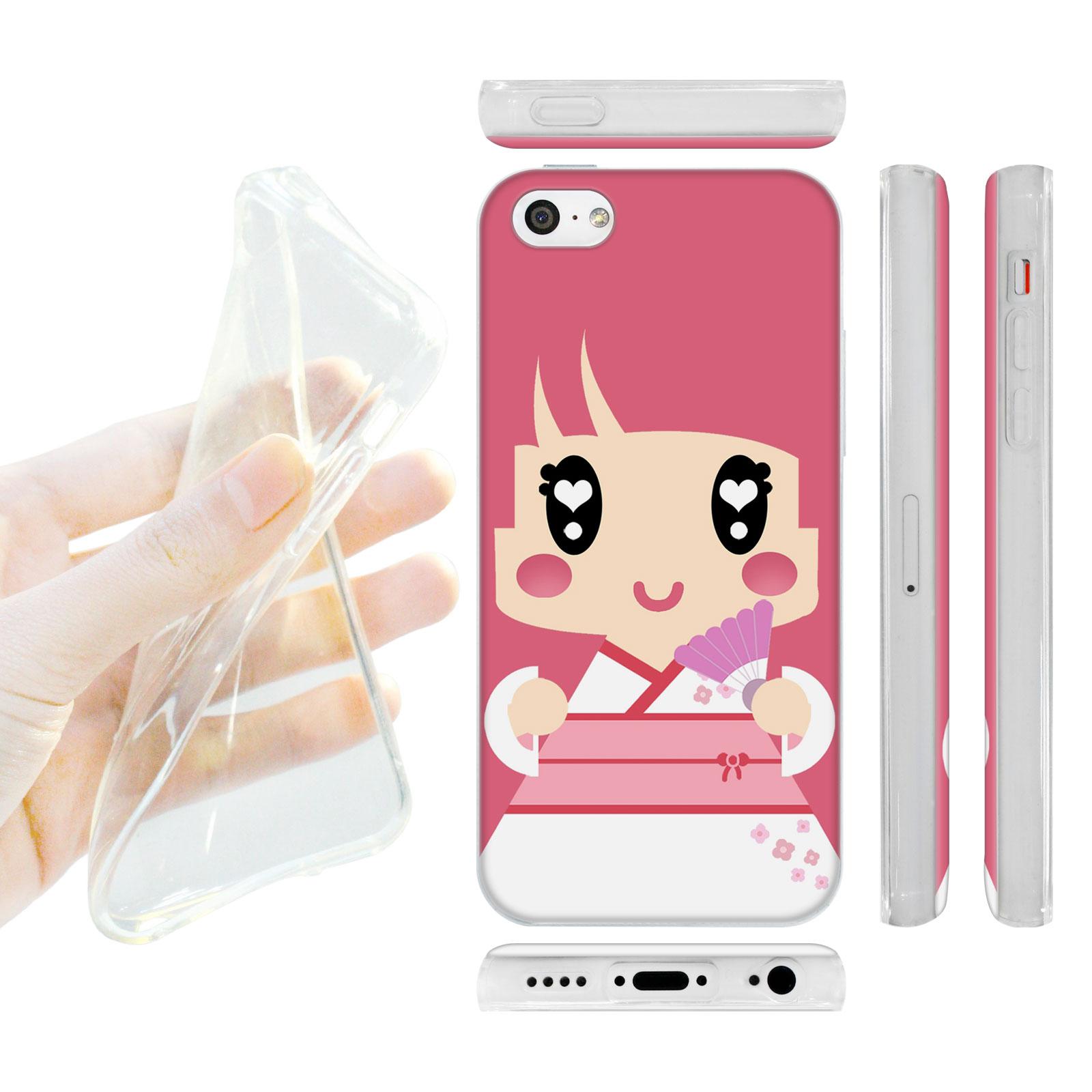 HEAD CASE silikonový obal na mobil Iphone 5C Japonsko holčička kimono  růžová empty d683cf15511