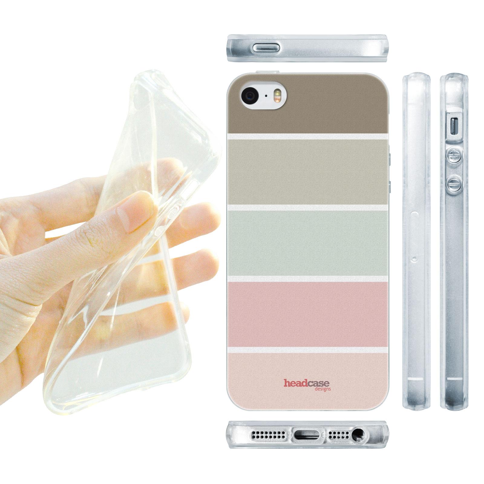 HEAD CASE silikonový obal na mobil Iphone 5 5S francouzský venkov barevné  pruhy d862b07ea61