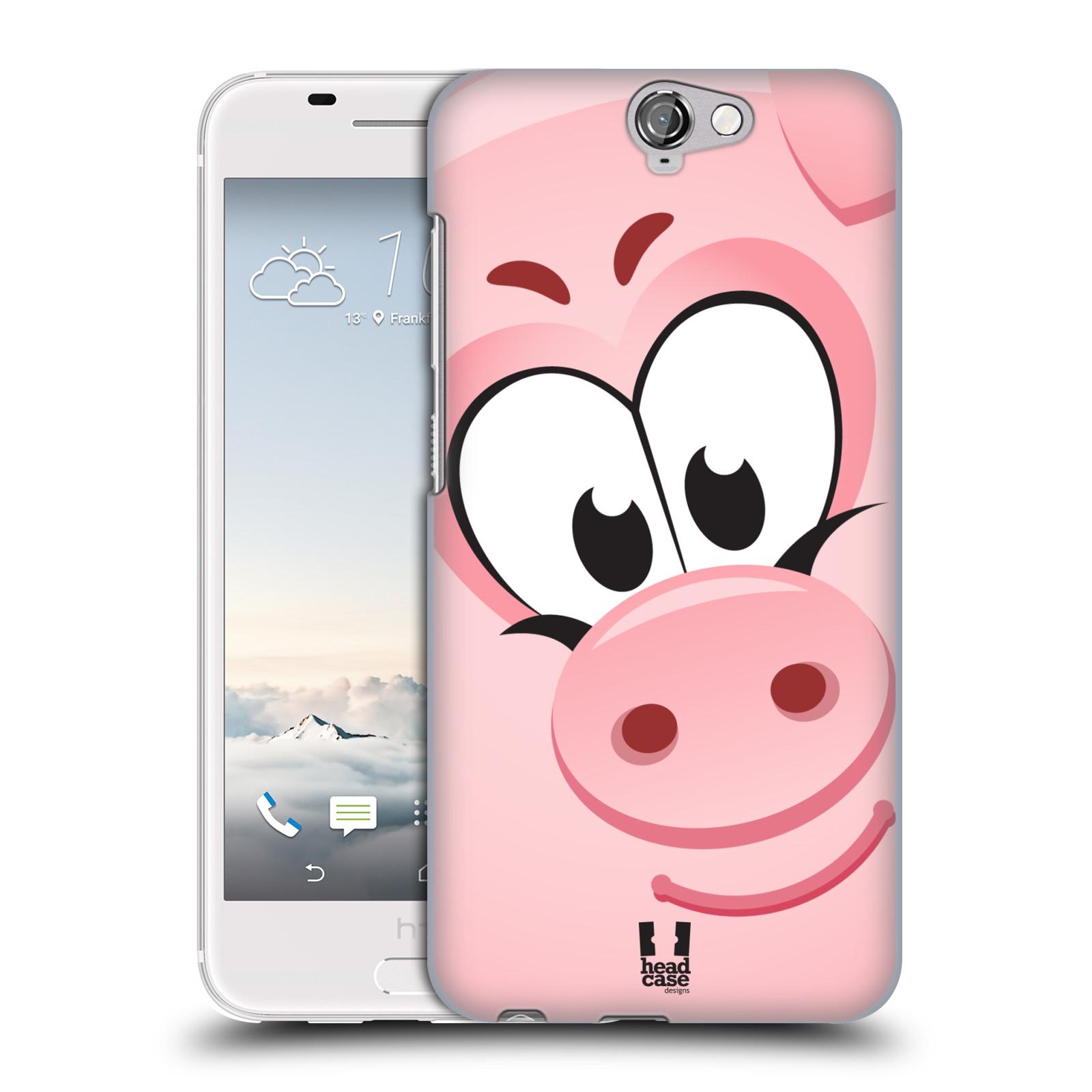 HEAD CASE pouzdro na mobil HTC ONE X prasátko růžová barva empty f4e1fbd85a7